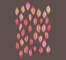 Watercolor Leaf Pattern in Autumn Colors Kids Clothes