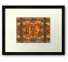 ELEPHANT IN THE JUNGLE Framed Print