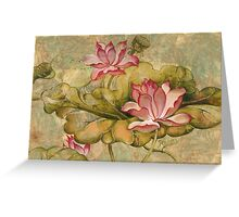 The Lotus Family Greeting Card