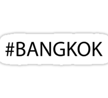 #Bangkok Black Sticker