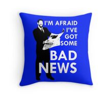 Bad News Barrett  Throw Pillow