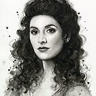 Deanna Troi Watercolor Portrait | Star Trek Fan Art by OlechkaDesign