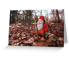 St. Nicholas Out for an Autumn Walk Greeting Card