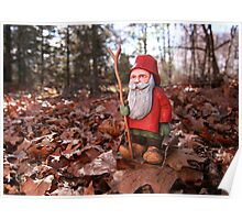 St. Nicholas Out for an Autumn Walk Poster