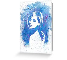 Buffy Sarah Michelle Gellar Watercolor Portrait Greeting Card