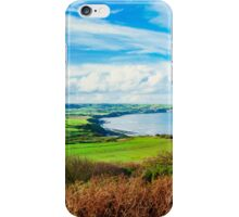 Scenic View over of Robin Hoods Bay in Ravenscar, North Yorkshire, England iPhone Case/Skin