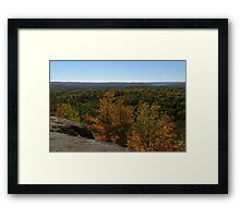 The Scenic Overlook - Algonquin in the Fall Framed Print
