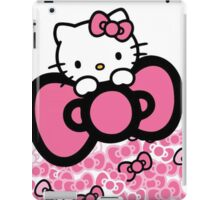 pink bow hello kitty  iPad Case/Skin