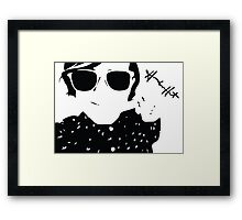 Hannah Hart Silhouette Framed Print