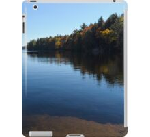 A Blue Autumn Afternoon - Algonquin Lake Serenity iPad Case/Skin