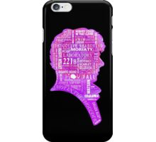Sherlock typography (pink) iPhone Case/Skin