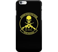 Zombie eradication unit iPhone Case/Skin