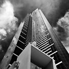 Climbing the walls - Euraka Tower - Melbourne by Norman Repacholi