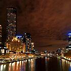 Southbank Twilight - Melbourne, Australia by Norman Repacholi