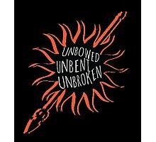 Unbowed, Unbent, Unbroken Photographic Print