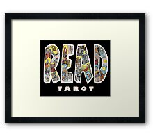 Be Well Read - READ TAROT (Black) Framed Print