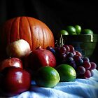 Pumpkin and Fruit by Sandra  Aguirre