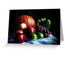 Pumpkin and Fruit Greeting Card
