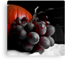 Dark Grapes Canvas Print