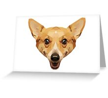 Crystalline Corgi Greeting Card
