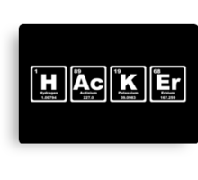 Hacker - Periodic Table Canvas Print