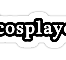Cosplayer - Hashtag - Black & White Sticker