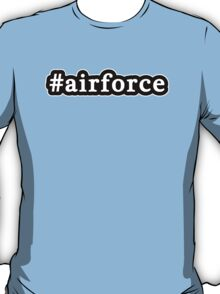 Air Force - Hashtag - Black & White T-Shirt