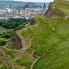 Overlooking Salisbury Crag, Edinburgh by fotosic