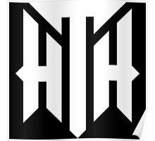 Hilltop Hoods Logo - White Poster