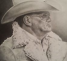 Bum Phillips Portrait by sentimentals