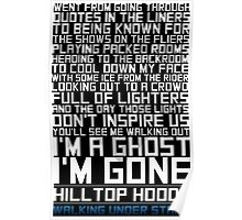 Hilltop Hoods - I'm A Ghost - White Poster