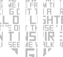 Hilltop Hoods - I'm A Ghost - White Sticker
