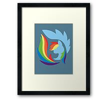 Emblem of Harmony - Rainbow Dash Framed Print