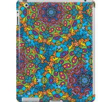 Psychedelic jungle kaleidoscope ornament 33 iPad Case/Skin