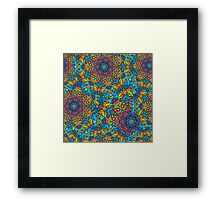 Psychedelic jungle kaleidoscope ornament 33 Framed Print
