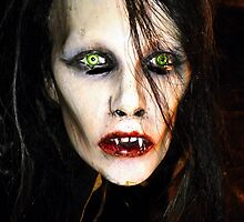 Woman Vampire Mask by Elzbieta Fazel