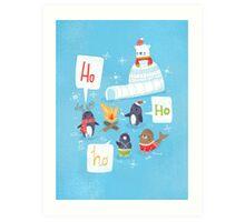 Penguins & Igloos Holiday Card Art Print