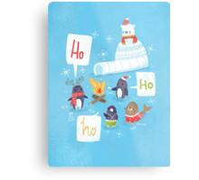 Penguins & Igloos Holiday Card Metal Print
