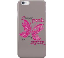 I Wear Pink For My Brother iPhone Case/Skin