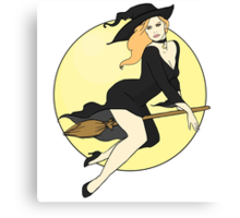 Witch Pinup Canvas Print