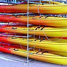 Stacked Canoes At Port de Soller by Fara