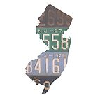 Vintage New Jersey License Plates by Maren Misner