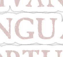 Long Live Dead Languages - Latin Sticker