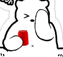 A Polar Bear who prefers BEER Sticker