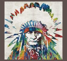 Native American Art - Chief - By Sharon Cummings Kids Clothes