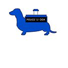 Dachshund Lovers - Tardis Blue  by dvampyrelestat