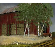 Old Man Walker's Barn Photographic Print