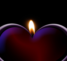 Candle heart Sticker