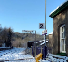Eggesford Station in Winter Sticker