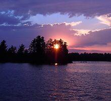 Sunrise Through the Pines by Benjamin Tatrow